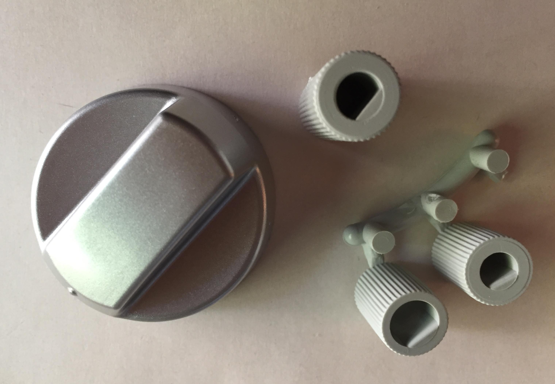 pi ces d tach es plaque de cuisson bouton universel de remplacement gris inox 43cu008. Black Bedroom Furniture Sets. Home Design Ideas
